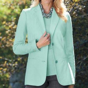 NWT Mint Green Chadwicks Fully-lined Wool Blazer